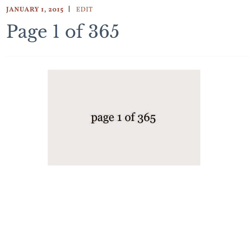 14. 365 pages project